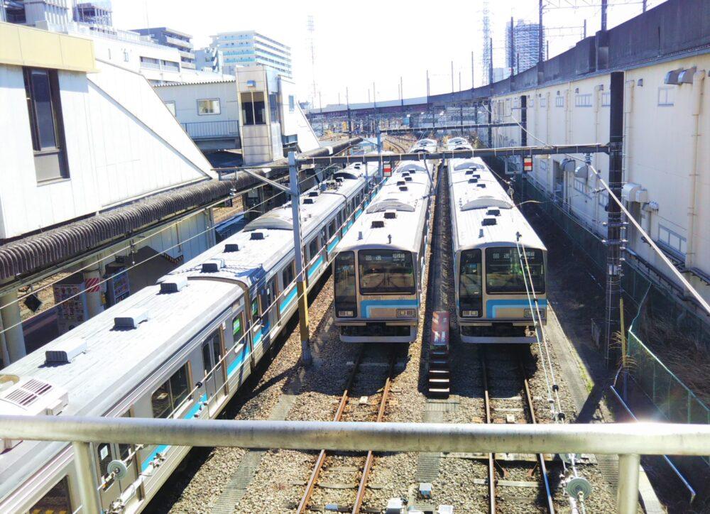 橋本駅で見える相模線の電車