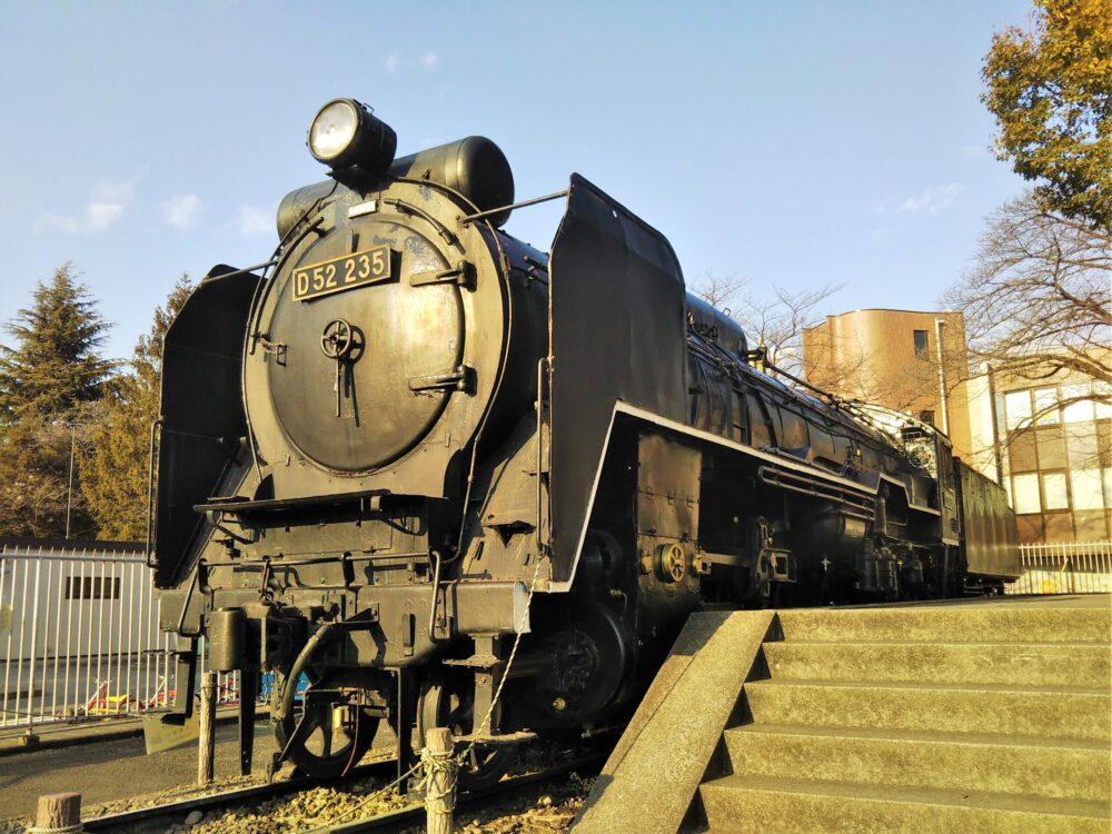 鹿沼公園で見えるSL(蒸気機関車)