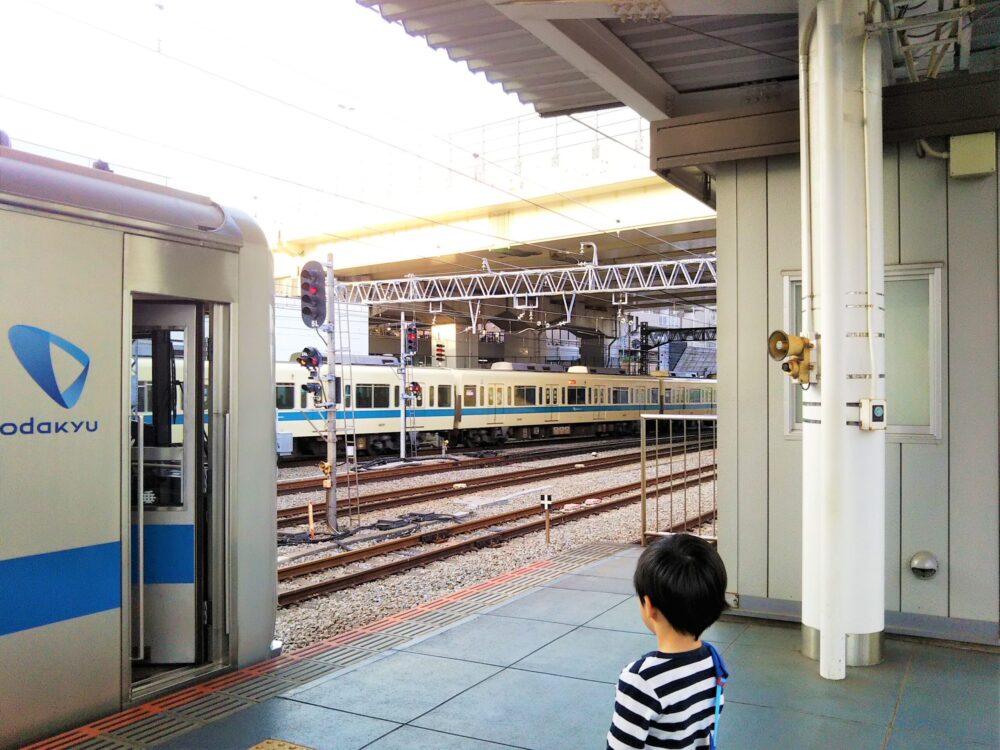 相模大野駅の小田原方面ホーム後尾車両側