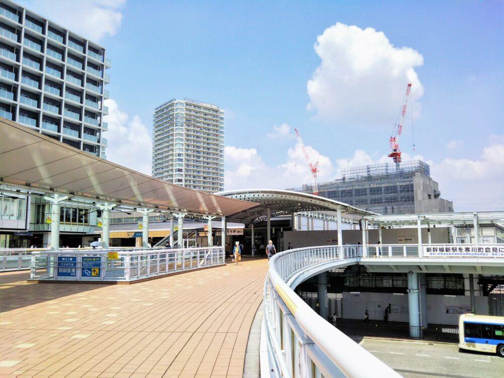 海老名駅の東口(2階自由通路)
