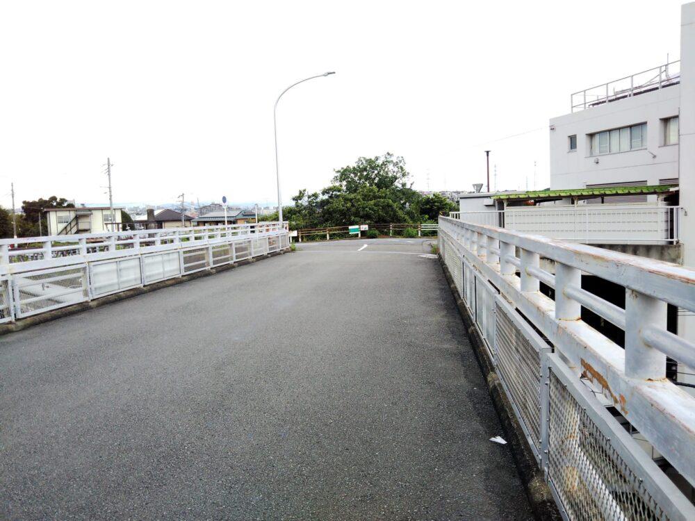 長津田駅ホームが見渡せる橋