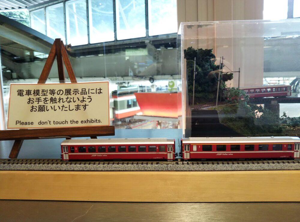 箱根カフェで見える箱根登山鉄道の模型