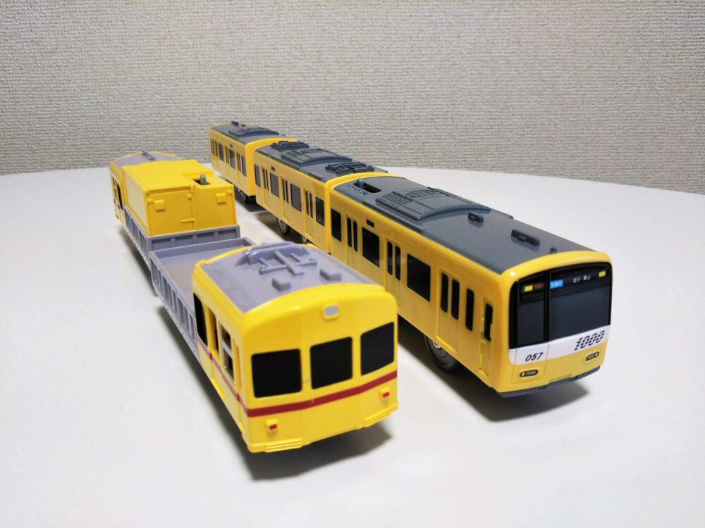 京急プラレール「イエローハッピートレイン」と「デト11・12形」