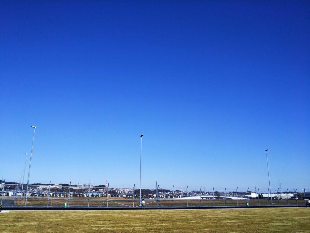 スポレク公園にある芝生広場