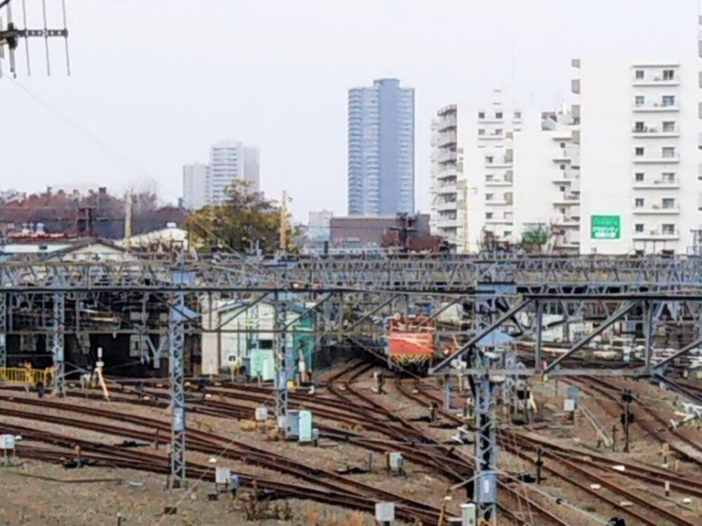 相模大野駅の車両基地で見える構内車両移動機