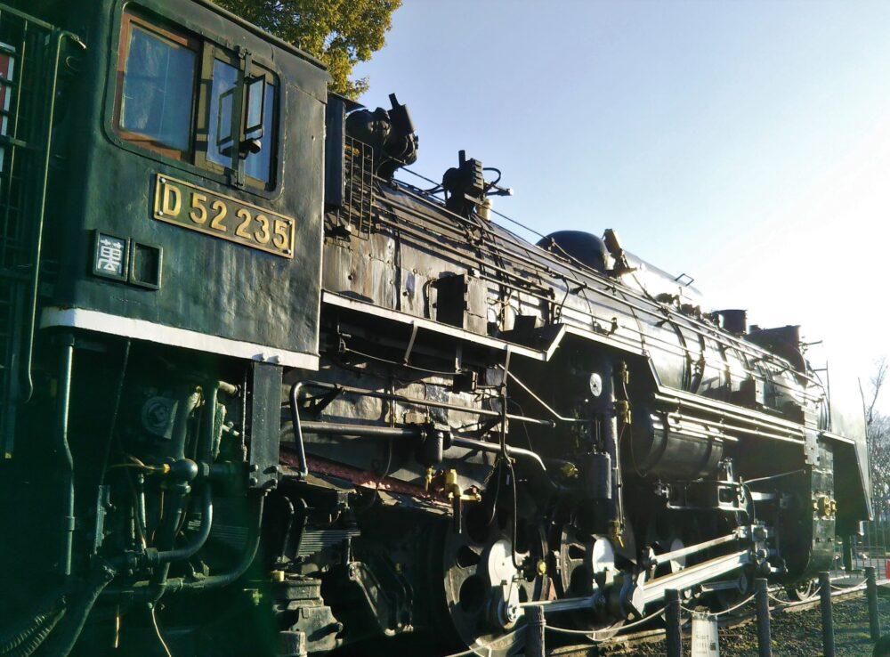 鹿沼公園にあるSL(蒸気機関車)のボディ