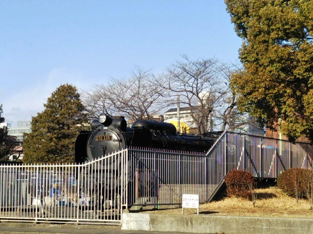 鹿沼公園にあるSL(蒸気機関車)