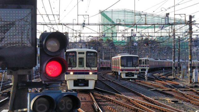 若葉台駅にある京王線の車両基地