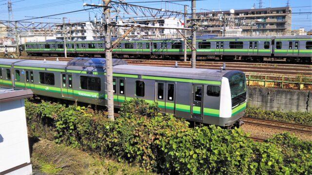 橋本駅にあるJR横浜線の車両基地