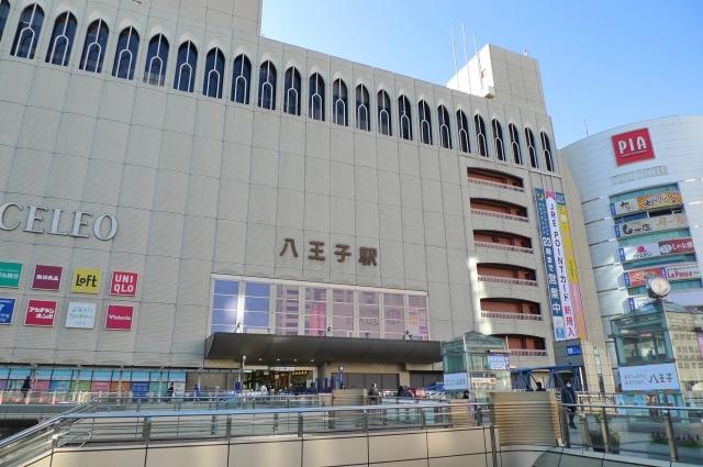 JR八王子駅の北口の景色とセレオ八王子の外観
