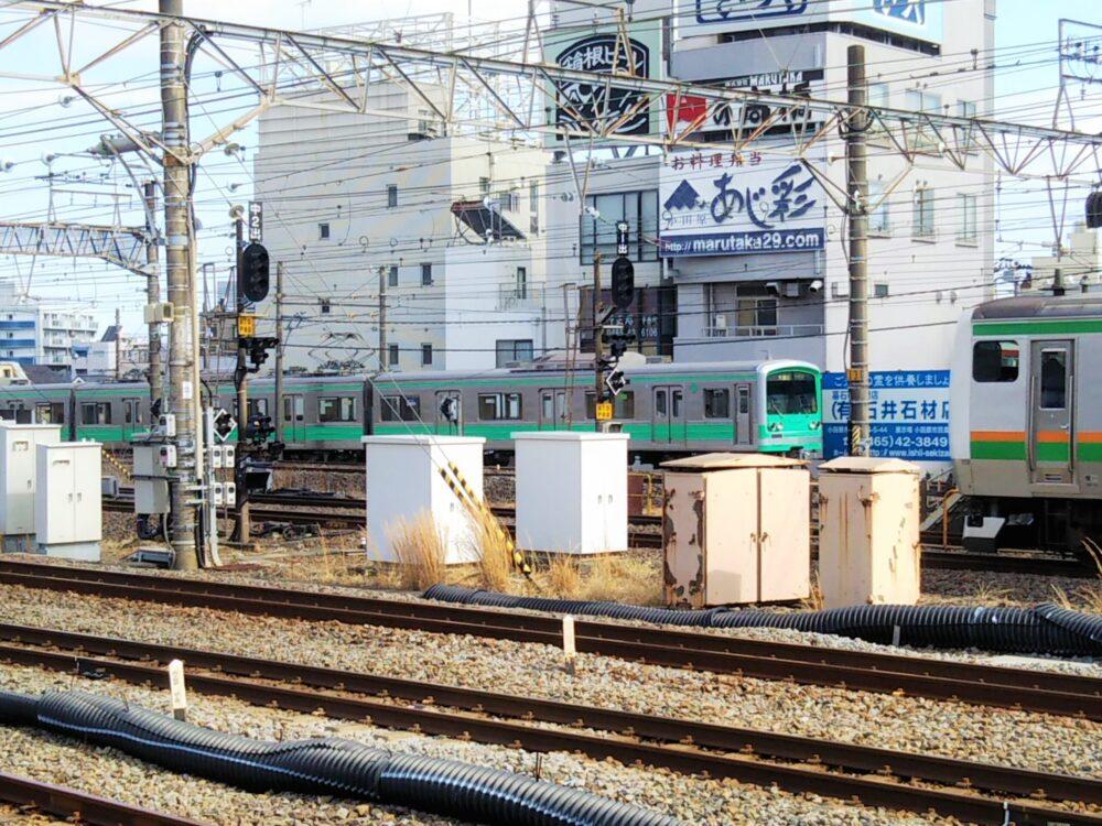 小田原駅に到着する大雄山線