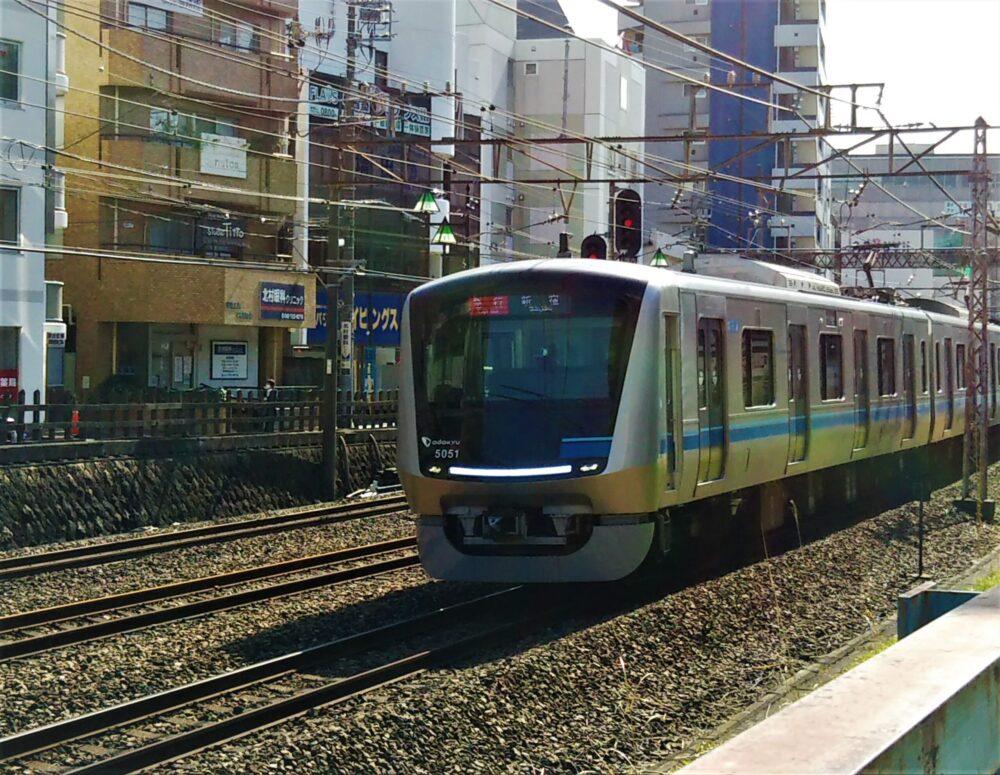 町田駅周辺で見える小田急線