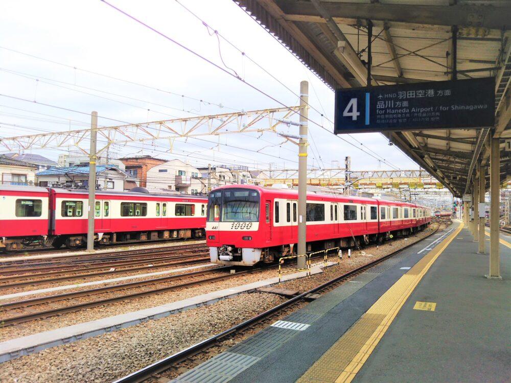 神奈川新町駅ホーム(品川方面)