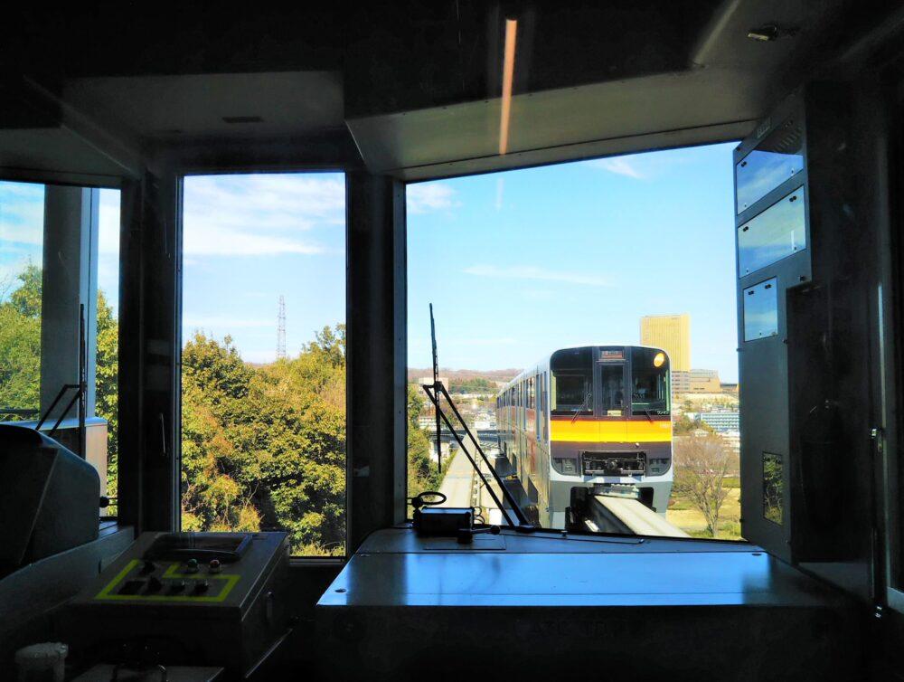 多摩モノレールから見える景色