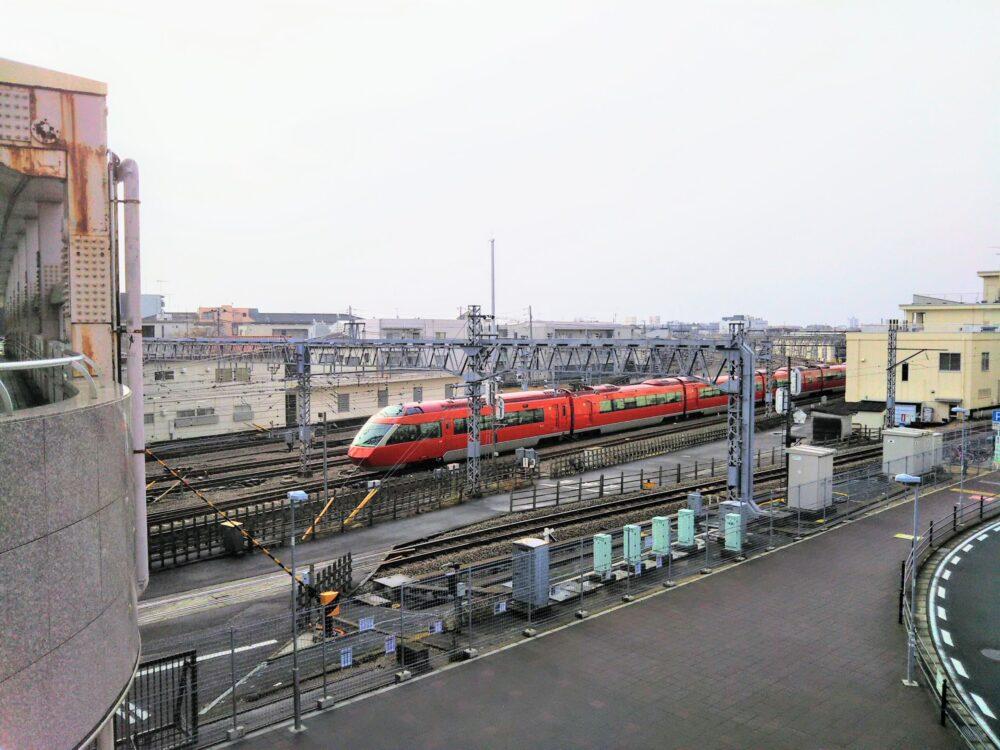 相模大野駅周辺で見えるロマンスカーGSE