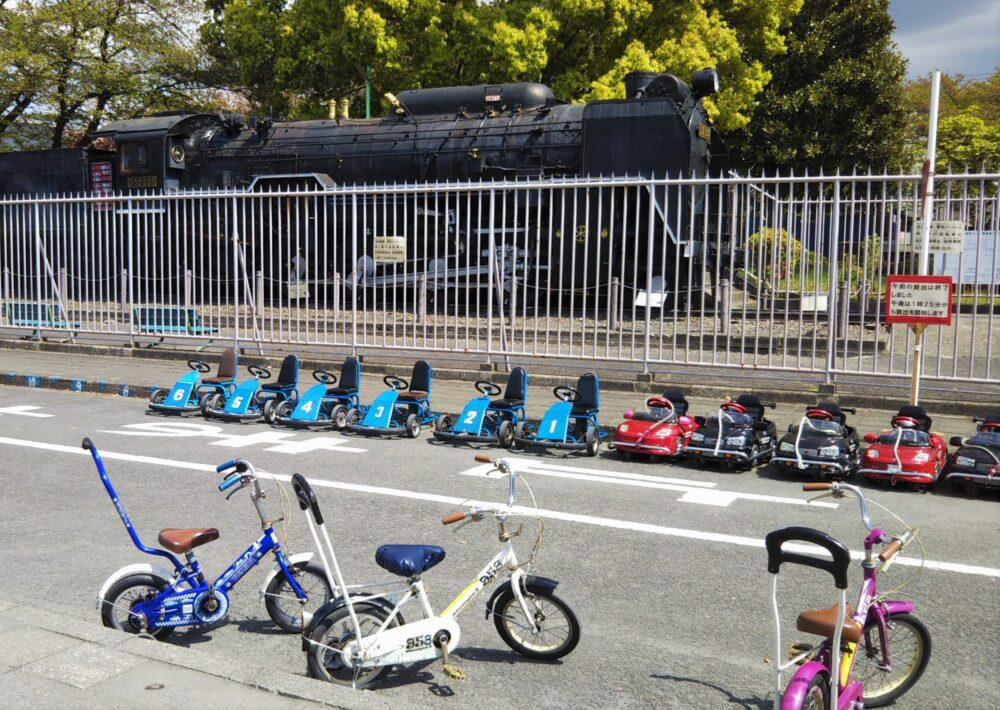 鹿沼児童交通公園に並ぶ幼児用遊具
