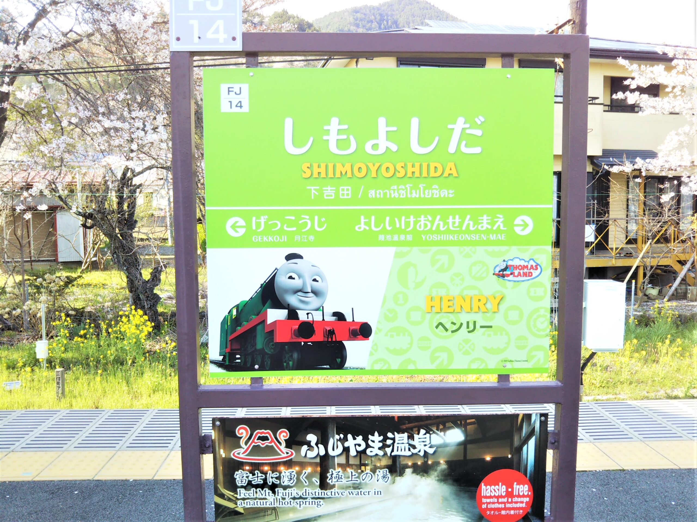 下吉田駅の駅案内板
