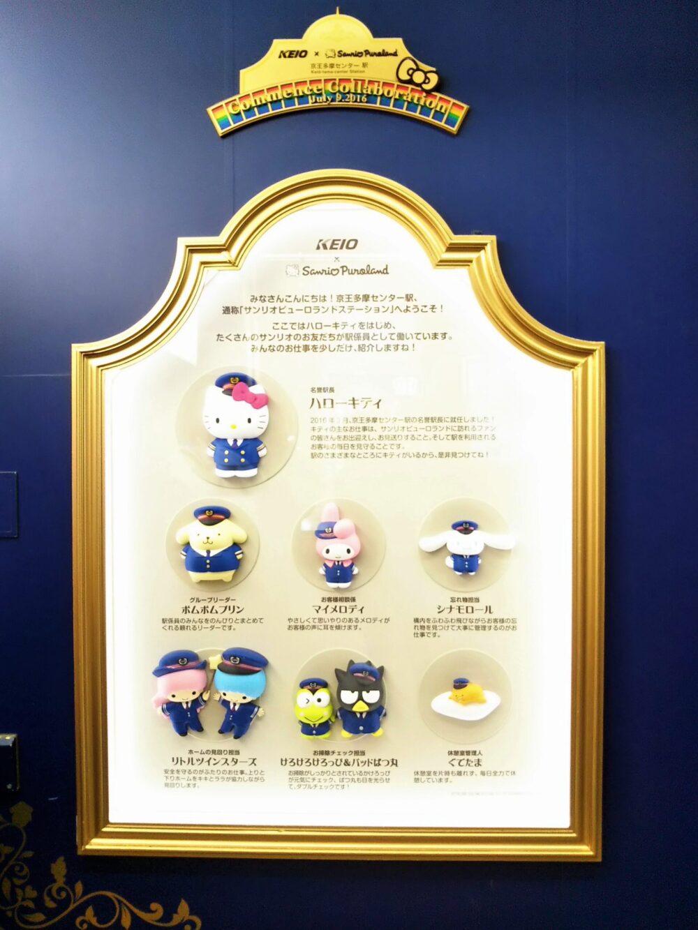 京王多摩センター駅にあるサンリオの看板
