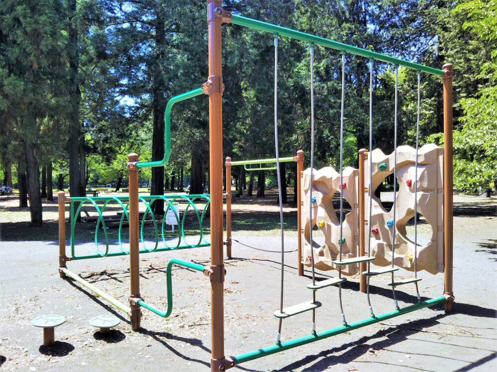 淵野辺公園のターザンロープ周辺遊具