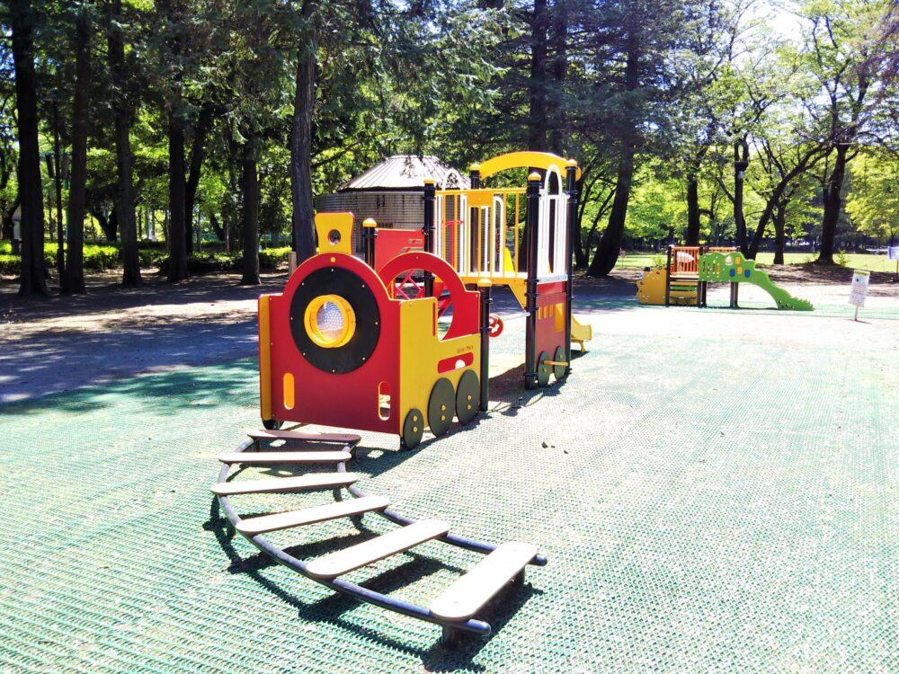 淵野辺公園の遊具(汽車)