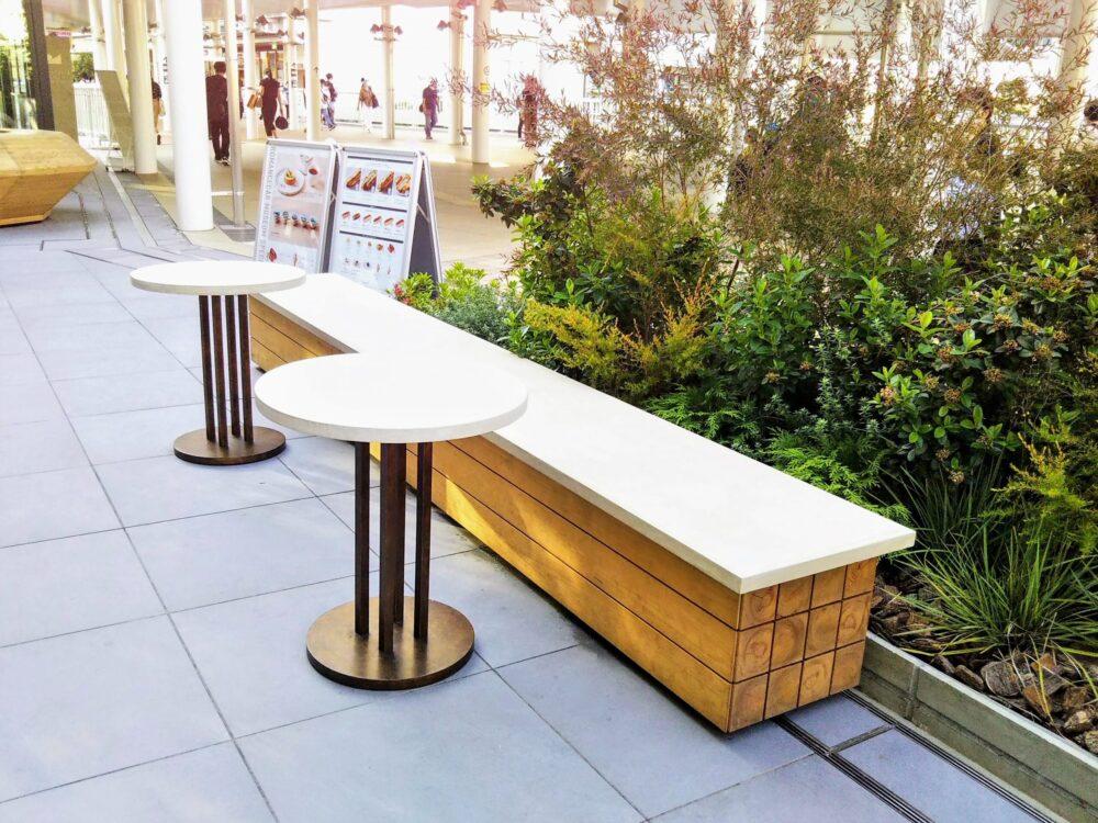 ロマンスカーミュージアムのカフェ(テラス席)