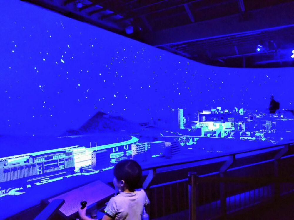 ロマンスカーミュージアム ジオラマパーク(小田原)夜