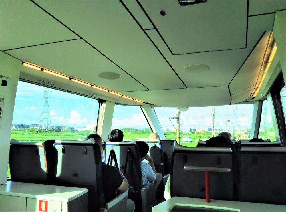 ロマンスカーGSEの一般席|窓側から見える景色
