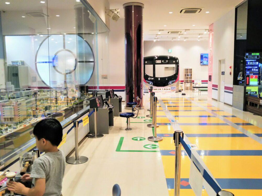 京王れーるランド 1階ジオラマ展示周辺の様子