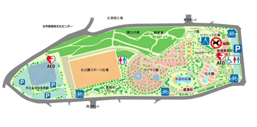 相模原北公園|園内マップ