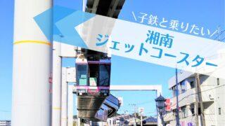 湘南モノレール|ピンクリボンラッピング車両(神奈川県の湘南深沢駅で見えるモノレール)