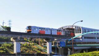 多摩モノレール|大塚東公園から見える車両