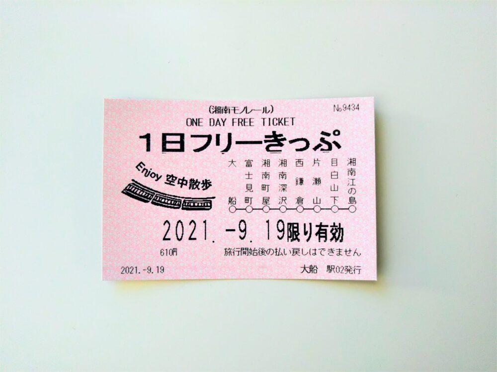 湘南モノレール 1日フリーきっぷ