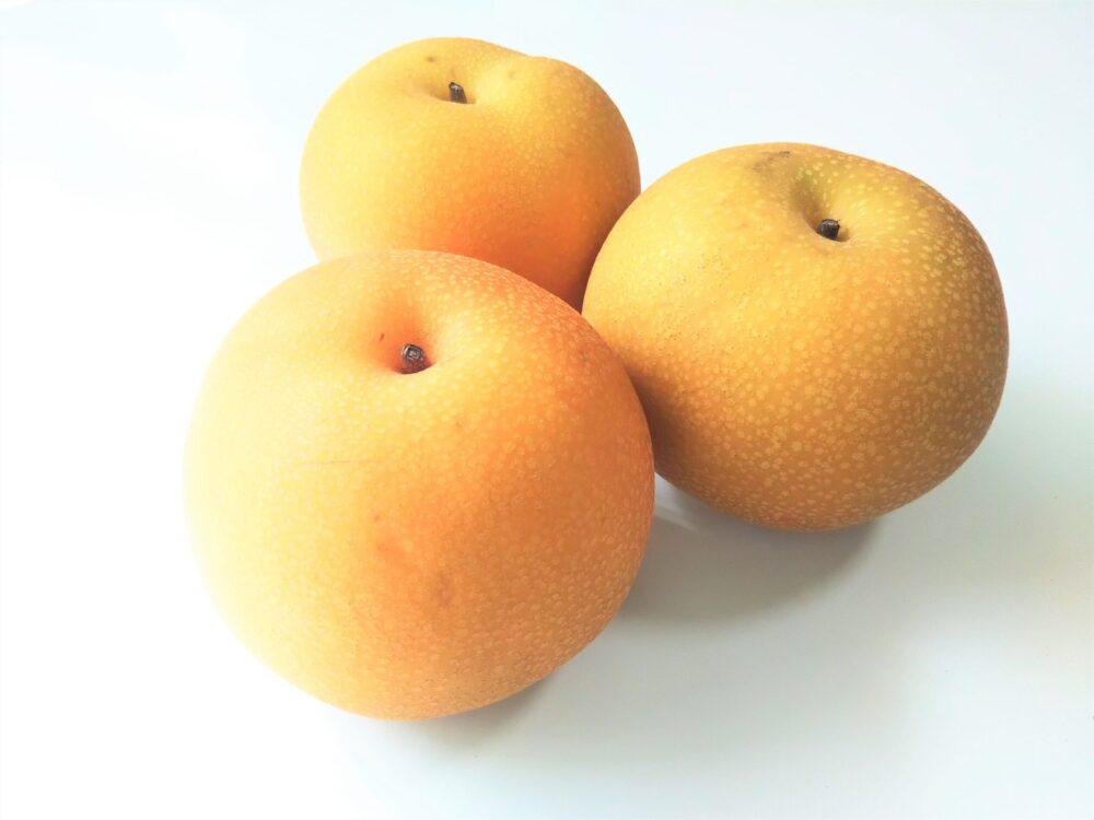 稲城市で収穫されている梨「あきづき」
