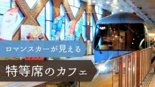 新宿駅で電車が見えるロマンスカーカフェ