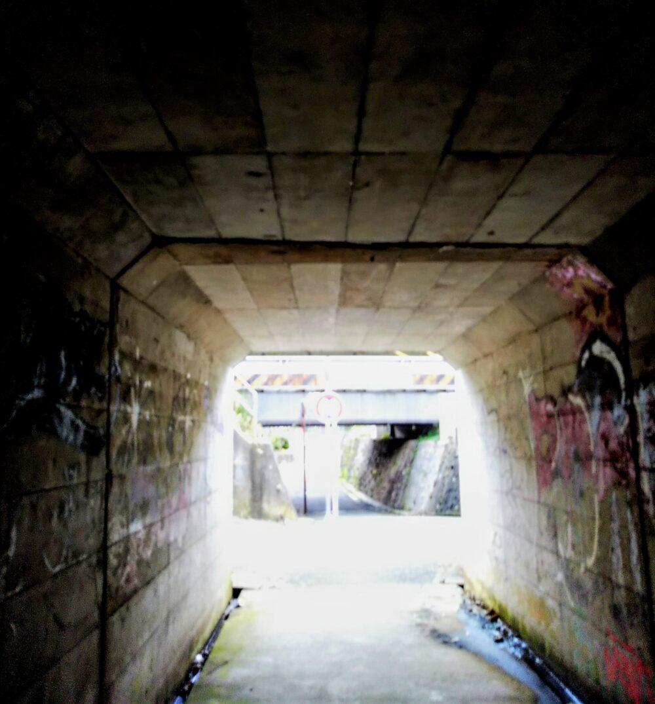 長津田架道橋周辺のトンネル